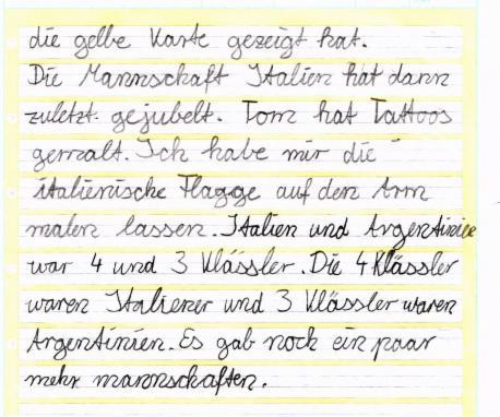 Gelbe Karte Grundschule.Mini Wm 2014 Meine Homepage